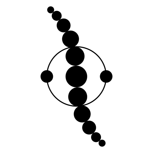 Linha ondulada de círculos cortados dentro do círculo Transparent PNG