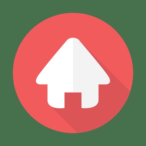 Web home flat sign