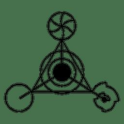Círculo de colheita triângulo estranho