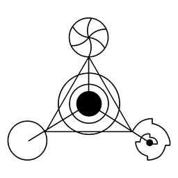 Círculo de cosecha de triángulo extraño