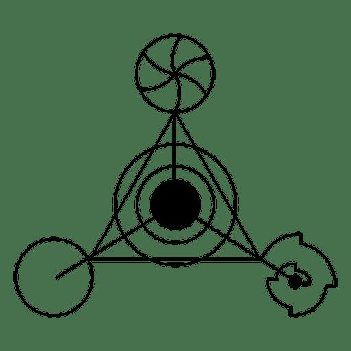 Círculo de cosecha de triángulo extraño Transparent PNG
