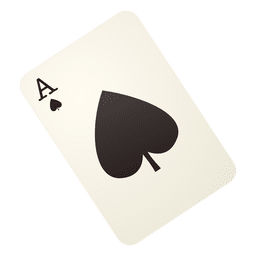 Ás do cartão de jogo