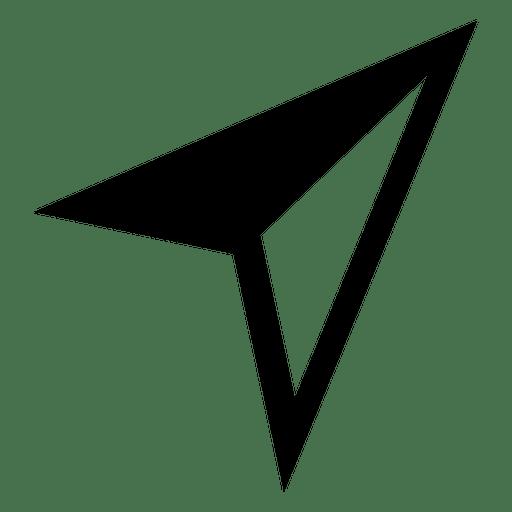 Airplane arrowhead cursor