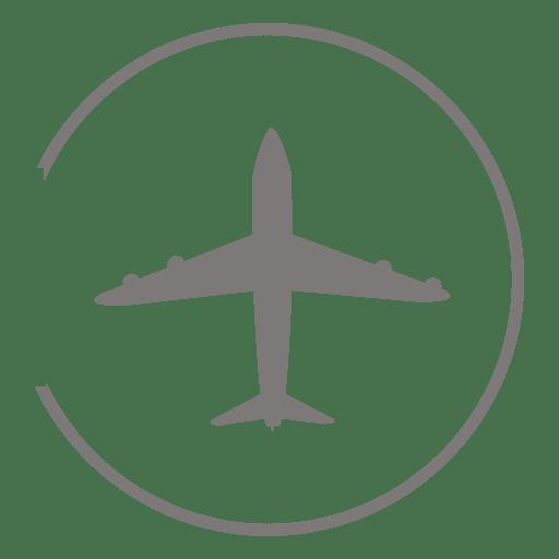 Airplane circle icon