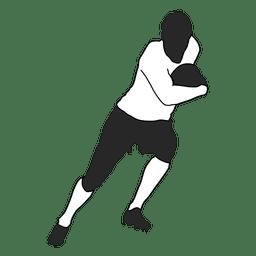 Jugador de futbol americano corriendo