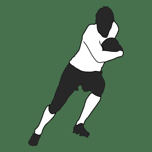 Jogador de futebol americano correndo Transparent PNG