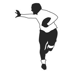 American football player running 1