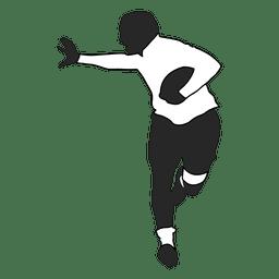 Jogador de futebol americano em execução 1