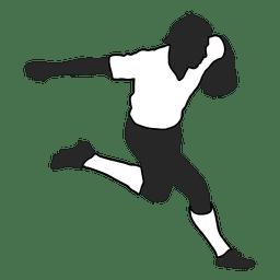 Jugador de futbol americano corriendo 2
