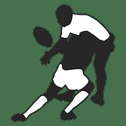 Jogador de futebol americano abordando 1