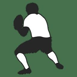 Jogador de futebol americano jogando