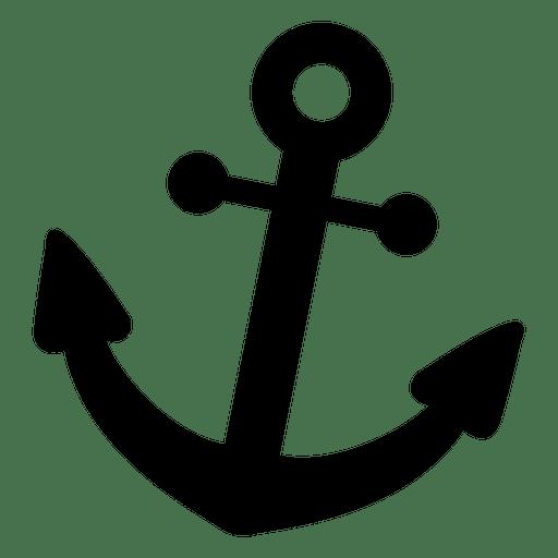 Ícone plano de âncora