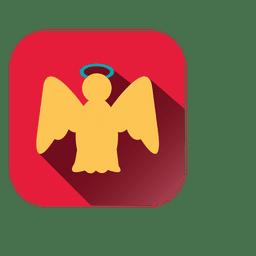 Icono cuadrado de angel