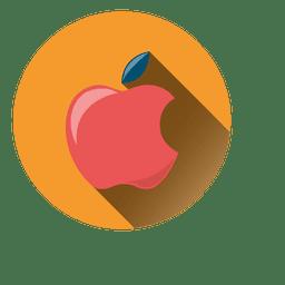 Ícone de círculo de sombra de gota de maçã