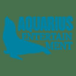 Logotipo de sello marino de acuario