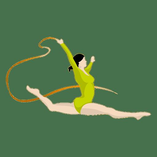 Dibujos animados de gimnasia artística