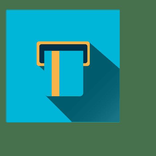 Atm card square icon