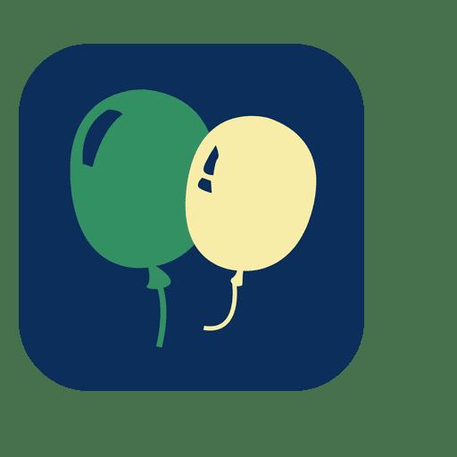 Balloons square icon