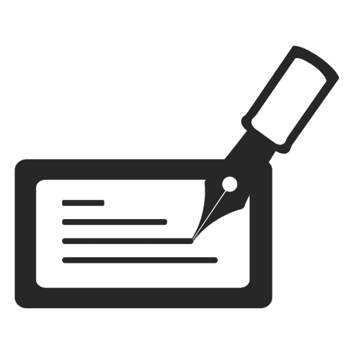 Bank check icon Transparent PNG