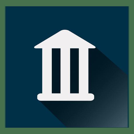 Ícone quadrado do banco