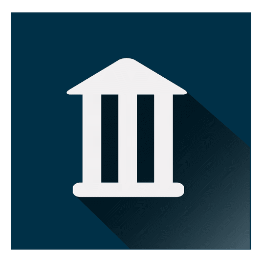 Icono cuadrado de banco