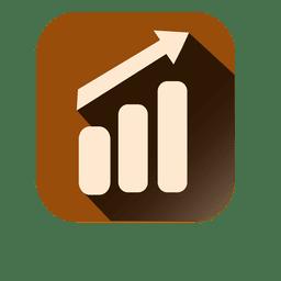 Icono cuadrado del gráfico de barras