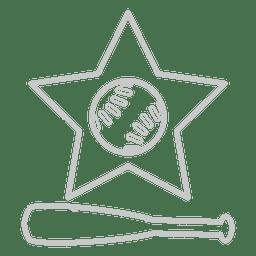 ícone de estrela bastão de beisebol