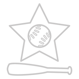 Baseball bat star icon