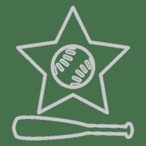 Baseball bat star icon Transparent PNG