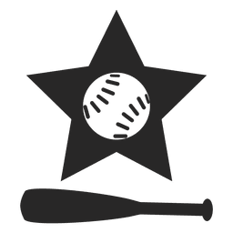 Baseball bat star logo