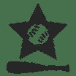 Logotipo de la estrella del bate de béisbol