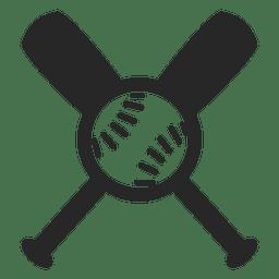 Bates de béisbol diseño vectorial