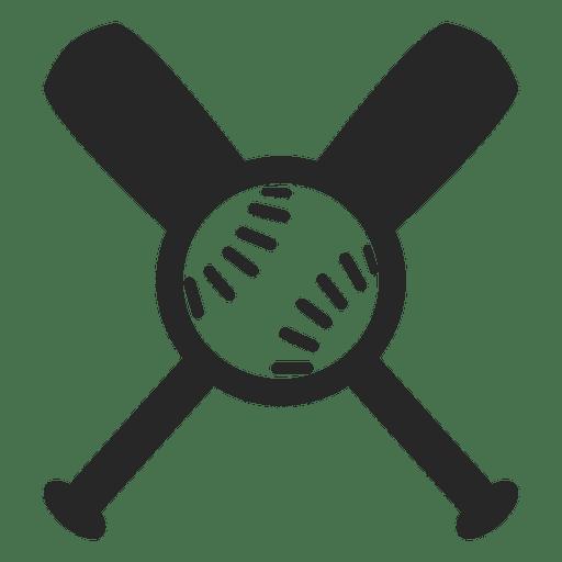 Logotipo de vector de bates de béisbol