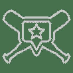 bastões de beisebol do logotipo