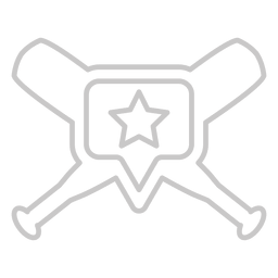bates de béisbol logotipo