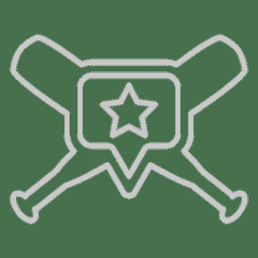 Baseball bats Vector Transparent PNG