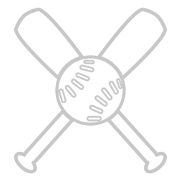 Baseball bats outline logo