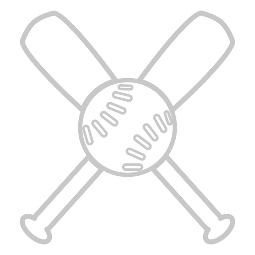 Baseball bats outline logo Transparent PNG