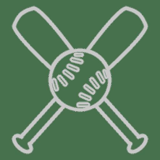 Bates de beisbol delinean logo Transparent PNG