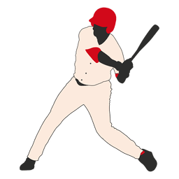 Silhueta de massa de beisebol