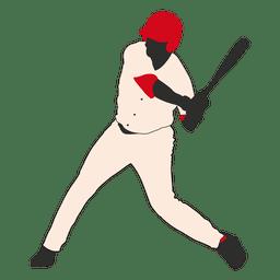 Silueta de bateador de béisbol