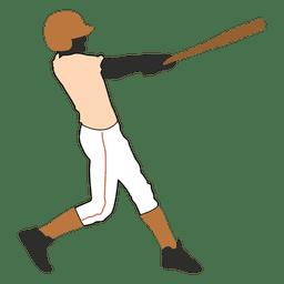 Silhueta de batedor de basebol 1