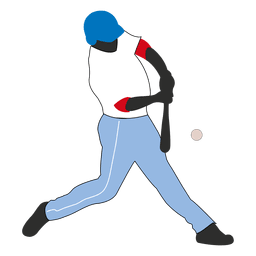 Bateador de beisbol golpe silueta