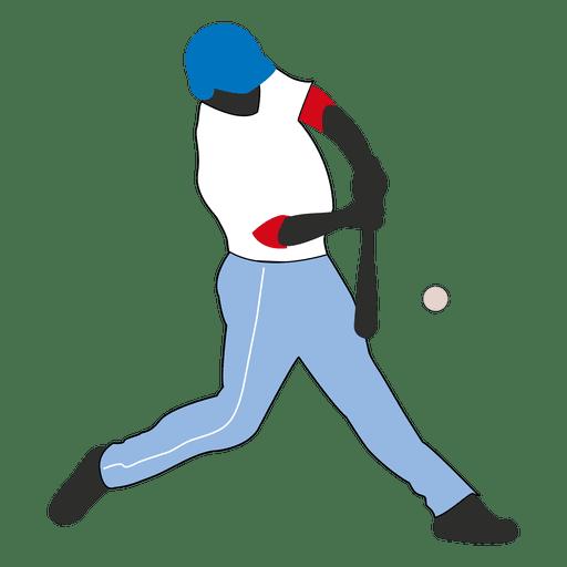 Bateador de beisbol golpe silueta Transparent PNG