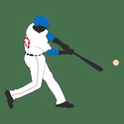 Béisbol de bateo de la silueta 1