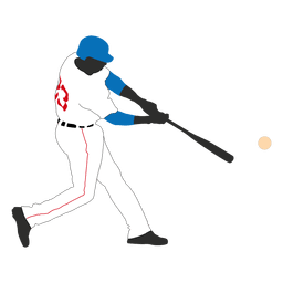 Baseball batting silhouette 1