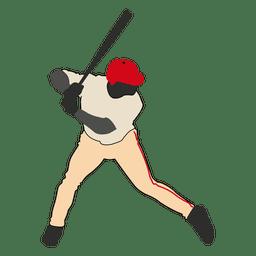 Béisbol de bateo de la silueta 2