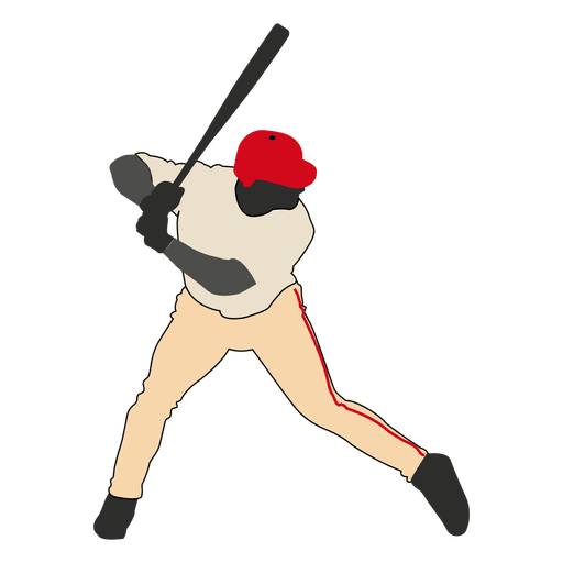 Bateo de beisbol silueta 2 Transparent PNG