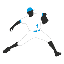 Baseball player pitching ball