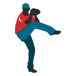 Baseballspieler-Karikatur